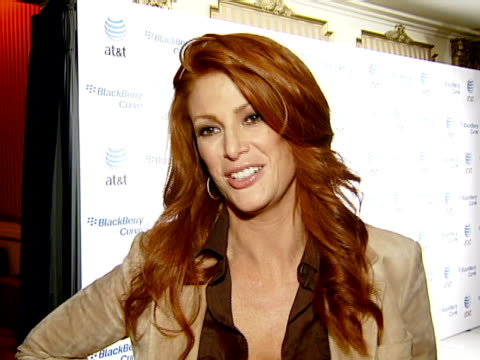 Angie Everhart at the BlackBerry Curve from ATT US Launch Party at Beverly Hills California
