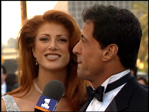 Angie Everhart at the Blockbuster Entertainment Awards at Pantages Theater in Hollywood California on June 3 1995