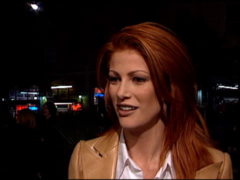 Angie Everhart at the 'Titanic' Premiere at Grauman's Chinese Theatre in Hollywood California on December 14 1997