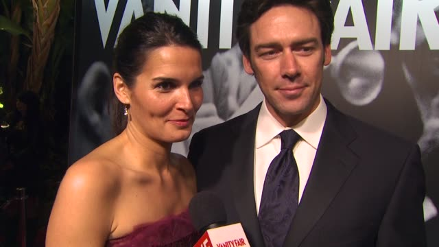 angie harmon and jason sehorn at the 2010 vanity fair oscar party hosted by graydon carter at west hollywood ca. - angie harmon stock videos & royalty-free footage