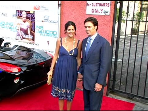 angie harmon and jason sehorn at the hollywood life's young hollywood awards and after-party sponsored by axe on may 1, 2005. - angie harmon stock videos & royalty-free footage
