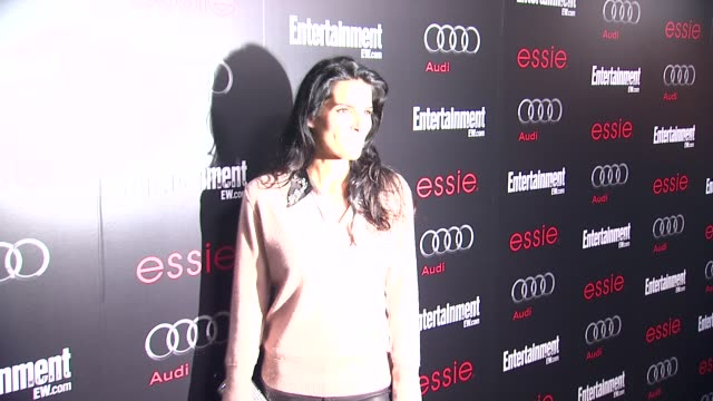 angie harmon arrives at entertainment weekly hosts celebration honoring the screen actors guild awards¨ nominees on 1/26/13 in los angeles ca - entertainment weekly stock-videos und b-roll-filmmaterial