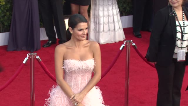 angie harmon at the 17th annual screen actors guild awards arrivals at los angeles ca - angie harmon stock videos & royalty-free footage