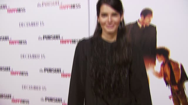 angie harmon at the 'in the pursuit of happyness' los angeles premiere at the mann village theatre in westwood california on december 7 2006 - angie harmon stock videos & royalty-free footage