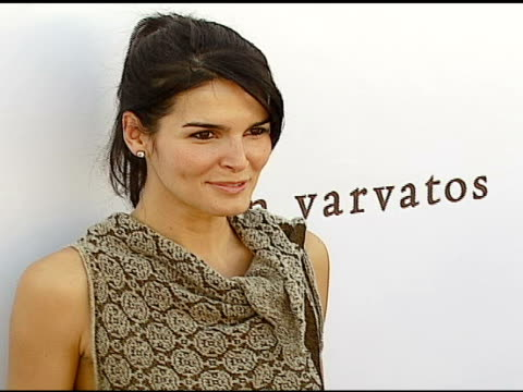 angie harmon at the john varvatos 5th annual stuart house benefit at john varvatos boutique in los angeles california on march 11 2007 - angie harmon stock videos & royalty-free footage
