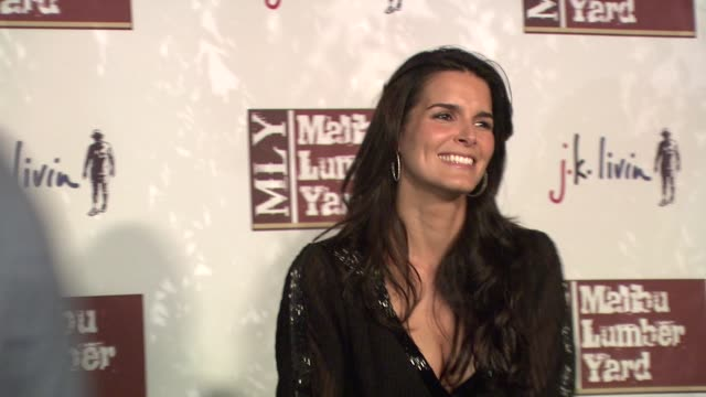 angie harmon at the malibu lumber yard opening at malibu ca. - angie harmon stock videos & royalty-free footage