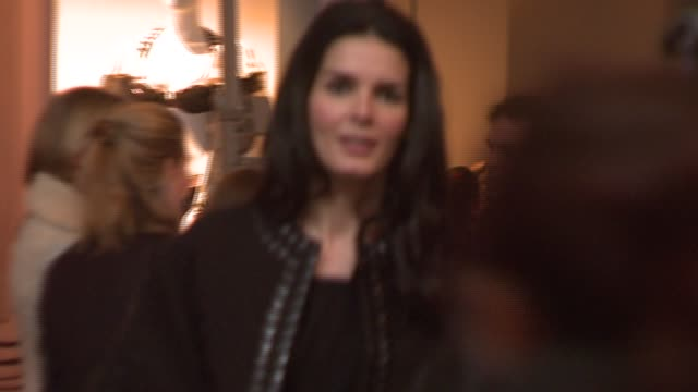 angie harmon at the mercedesbenz fashion week fall 2008 at bryant park in new york new york on february 4 2008 - angie harmon stock videos & royalty-free footage