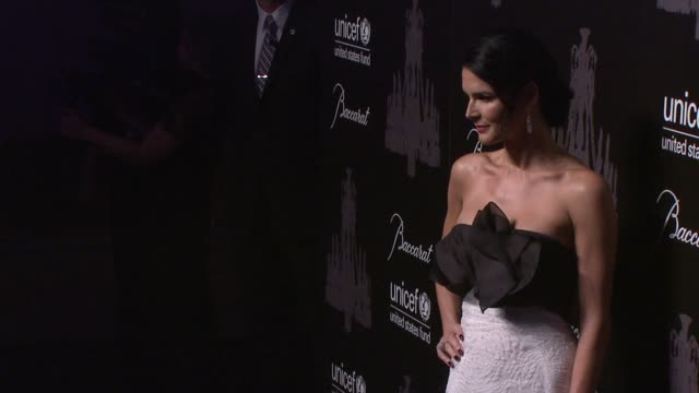 angie harmon at the ninth annual unicef snowflake ball at cipriani wall street on in new york city - angie harmon stock videos & royalty-free footage