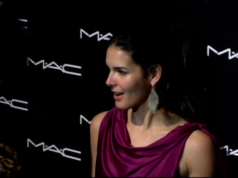 angie harmon at the olympus fashion week fall 2006 mac chinese dress party inside at eyebeam in new york new york on february 2 2006 - angie harmon stock videos & royalty-free footage