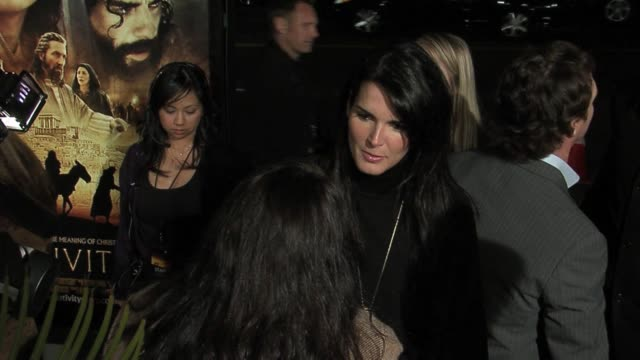 angie harmon at the the nativity story premiere arrivals at the academy in los angeles california on november 28 2006 - angie harmon stock videos & royalty-free footage