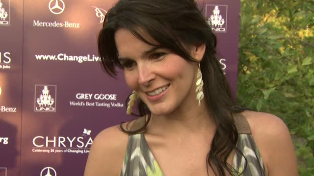 angie harmon on being a part of the night, the importance of giving back, on second chances, her summer plans. at the 8th annual chrysalis butterfly... - angie harmon stock videos & royalty-free footage