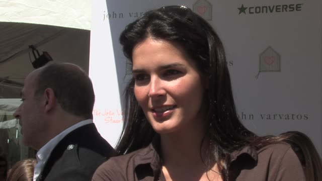 angie harmon on childrens causes why the benefit is important and on how its different than other fundraisers at the john varvatos 4th annual stuart... - angie harmon stock videos & royalty-free footage