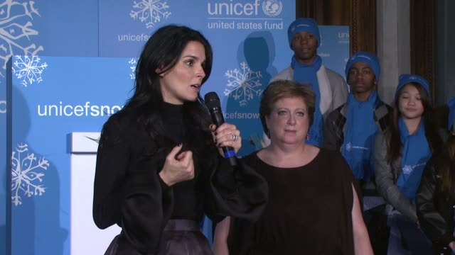Angie Harmon on the struggle to help impoverished children around the world at the 10th Anniversary Of The UNICEF Snowflake Lighting at New York NY
