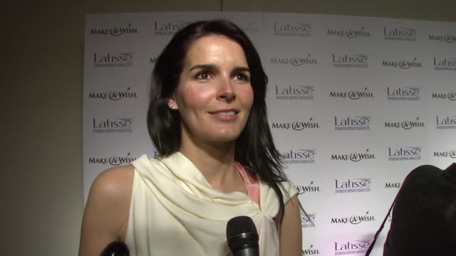 angie harmon on wanting to try latisse because great lashes are important and not having to wear makeup is great and on the make a wish foundation.... - angie harmon stock videos & royalty-free footage