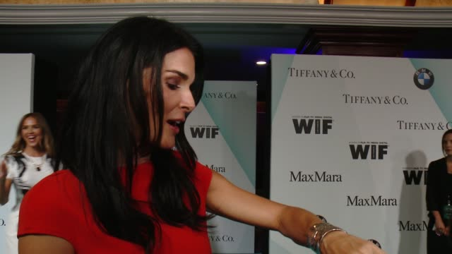 INTERVIEW Angie Harmon on wearing Max Mara and her look tonight at Women In Film 2015 Crystal Lucy Awards Presented By Max Mara BMW Of North America...