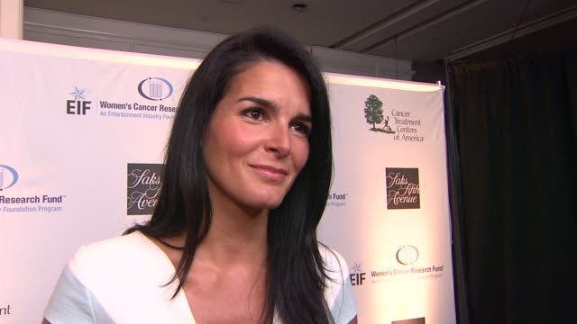 angie harmon on why she wanted to celebrate with eif, why she wanted to get involved in the fight against women's cancer and if she thinks a cure in... - angie harmon stock videos & royalty-free footage