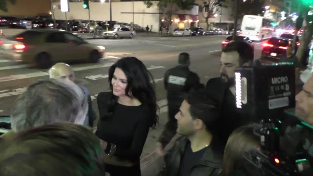 angie harmon talks about cindy crawford retiring outside avalon nightclub in hollywood in celebrity sightings in los angeles, - angie harmon stock videos & royalty-free footage