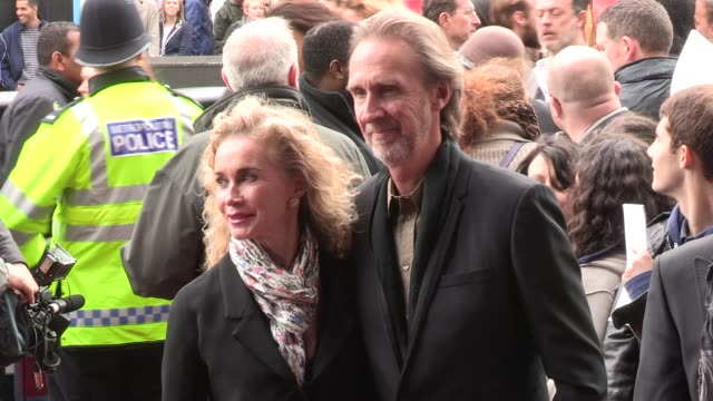 angie rutherford & mike rutherford at we will rock you - 10 year anniversary celebration at dominion theatre on may 14, 2012 in london, england - mike rutherford stock videos & royalty-free footage