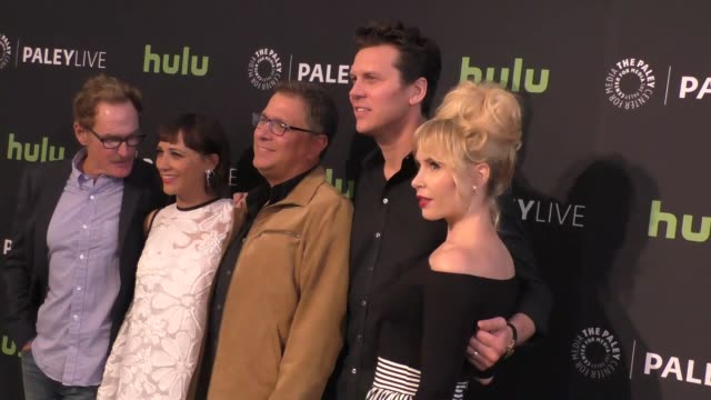 angie tribeca cast at the paleylive an evening with angie tribeca at paley center for media in beverly hills in celebrity sightings in los angeles, - paley center for media los angeles stock videos & royalty-free footage