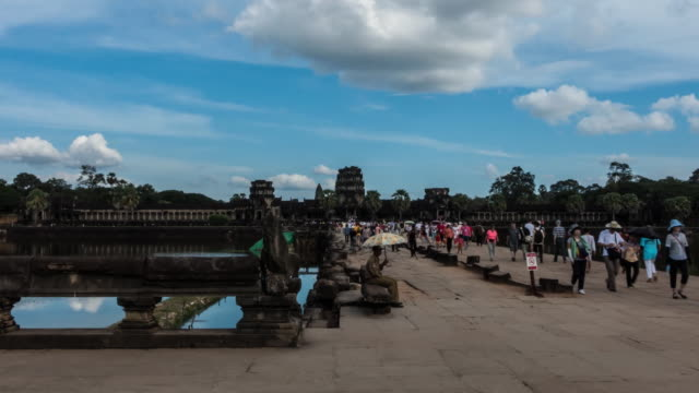 angkor wat hyperlapse - cambodian culture stock videos and b-roll footage