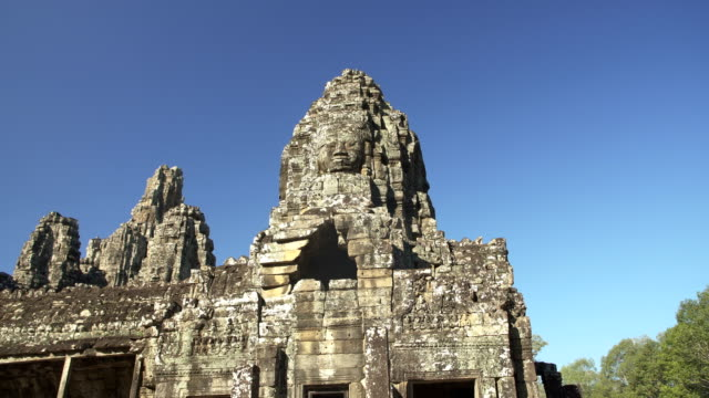 angkor wat - prasat bayon temple - cambodia stock videos and b-roll footage