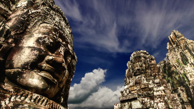 angkor wat siem reap cambodia - cambodia stock videos and b-roll footage