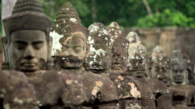 angkor wat statues - angkor stock videos and b-roll footage