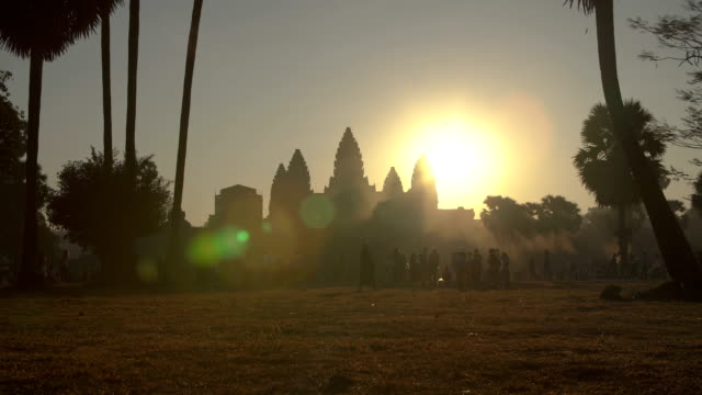 angkor wat sunrise - cambodia stock videos and b-roll footage