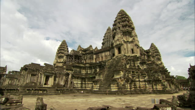 ws td angkor wat temple / angkor, cambodia - cambodian culture stock videos and b-roll footage
