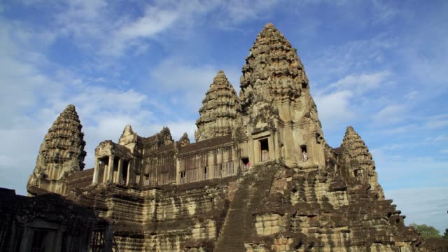 angkor wat temple cambodia - moat stock videos & royalty-free footage