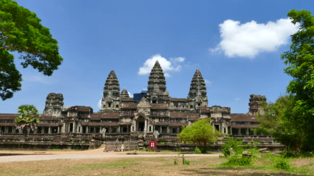 angkor wat temple in cambodia - buddha stock videos & royalty-free footage