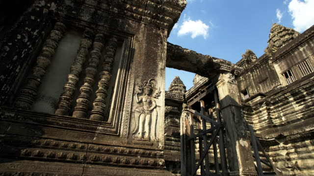 angkor wat temple statue carving - angkor wat stock videos and b-roll footage