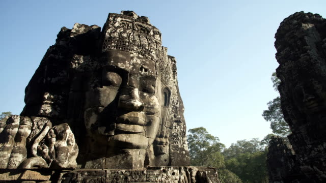 angkor wat temple statue - angkor wat stock videos and b-roll footage