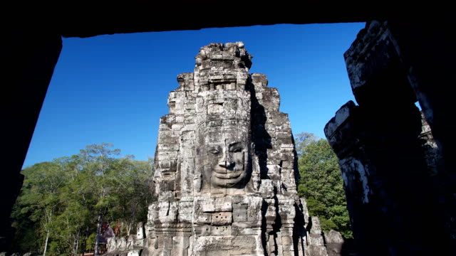 angkor wat temple statue - cambodia stock videos and b-roll footage