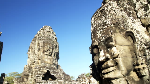 angkor wat temple statue - unesco world heritage site stock videos & royalty-free footage
