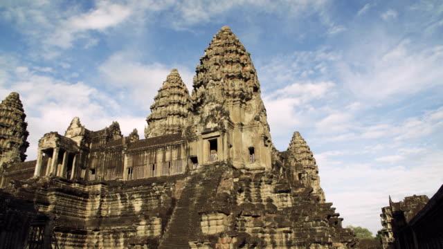 angkor wat temple - angkor stock videos and b-roll footage