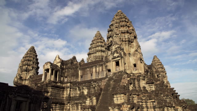 angkor wat temple - moat stock videos and b-roll footage
