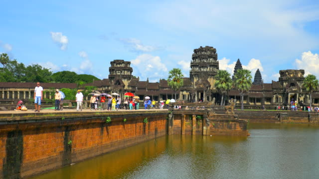 angkor wat - temple building stock videos & royalty-free footage