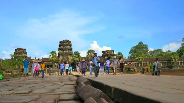 angkor wat - sacred lotus stock videos and b-roll footage
