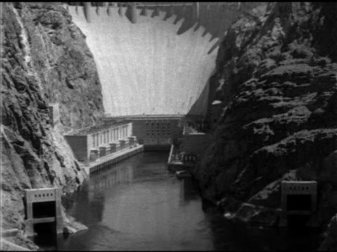angled ws black canyon w/ colorado river side of dam nevada arizona electricity energy boulder dam machine hydroelectric green renewable alternative... - black canyon stock videos & royalty-free footage