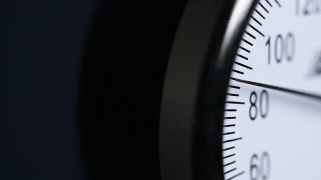 cu angled blood pressure meter rises - gauge stock videos & royalty-free footage