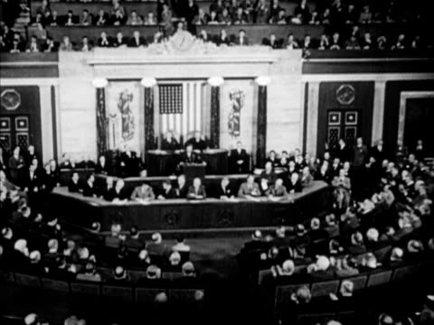 angled ws capitol building vs general douglas macarthur standing at podium sot saying 'closing 52 years of military serviceworld has turned overwest... - general military rank stock videos and b-roll footage