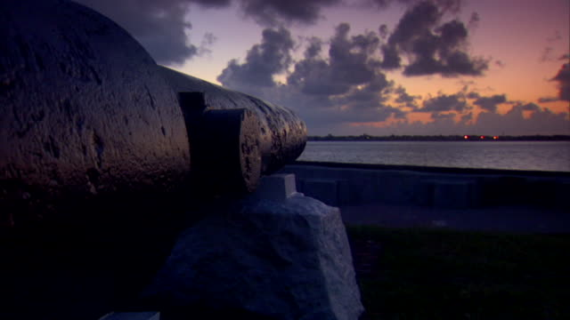 Angled MS Next to Cannon facing Charleston Harbor American Civil War Federal fort Confederate Union South North beginning slavery abolitionists