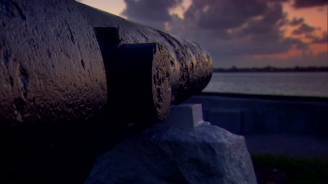 Angled CU Next to Cannon facing Charleston Harbor American Civil War Federal fort Confederate Union South North beginning slavery abolitionists