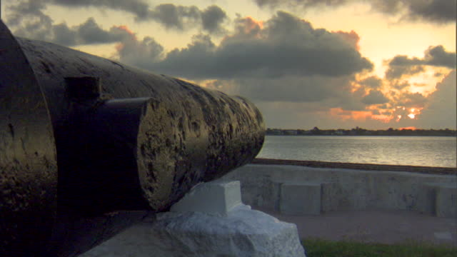 Angled MS Next to Cannon facing Charleston Harbor American Civil War Federal fort Confederate Union South North slavery abolitionists