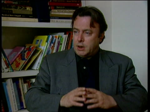 politics angloamerican relationships itn christopher hitchens intvw sot sigh of relief at the departure mr major his team but a sense of satisfaction... - christopher hitchens stock videos & royalty-free footage