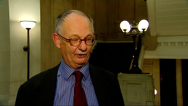 anglo-french summit / eu reform / eu referendum bill rejected by lords; int lord lipsey interview sot - reform stock-videos und b-roll-filmmaterial