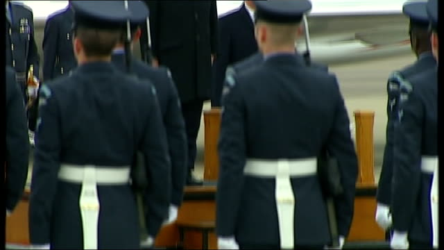 hollande arrival hollande to podium as french national anthem played / hollande inspecting guard of honour / hollande returns to podium and the... - guard of honour stock videos and b-roll footage