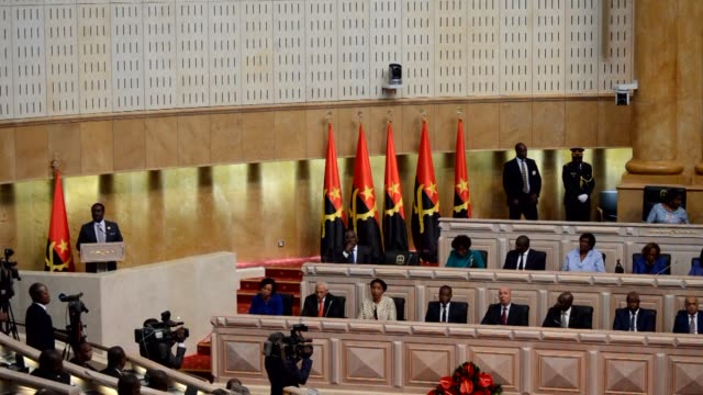 Angola newly elected president Joao Lourenço speaks for the first time in front of the Parliament