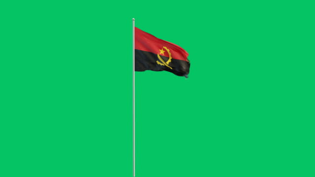 angolan flag rising